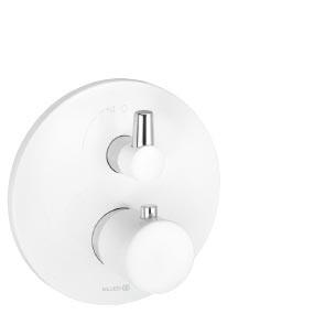 KLUDI BALANCE WHITE Jednouchwytowa bateria wannowo-natryskowa z termostatem
