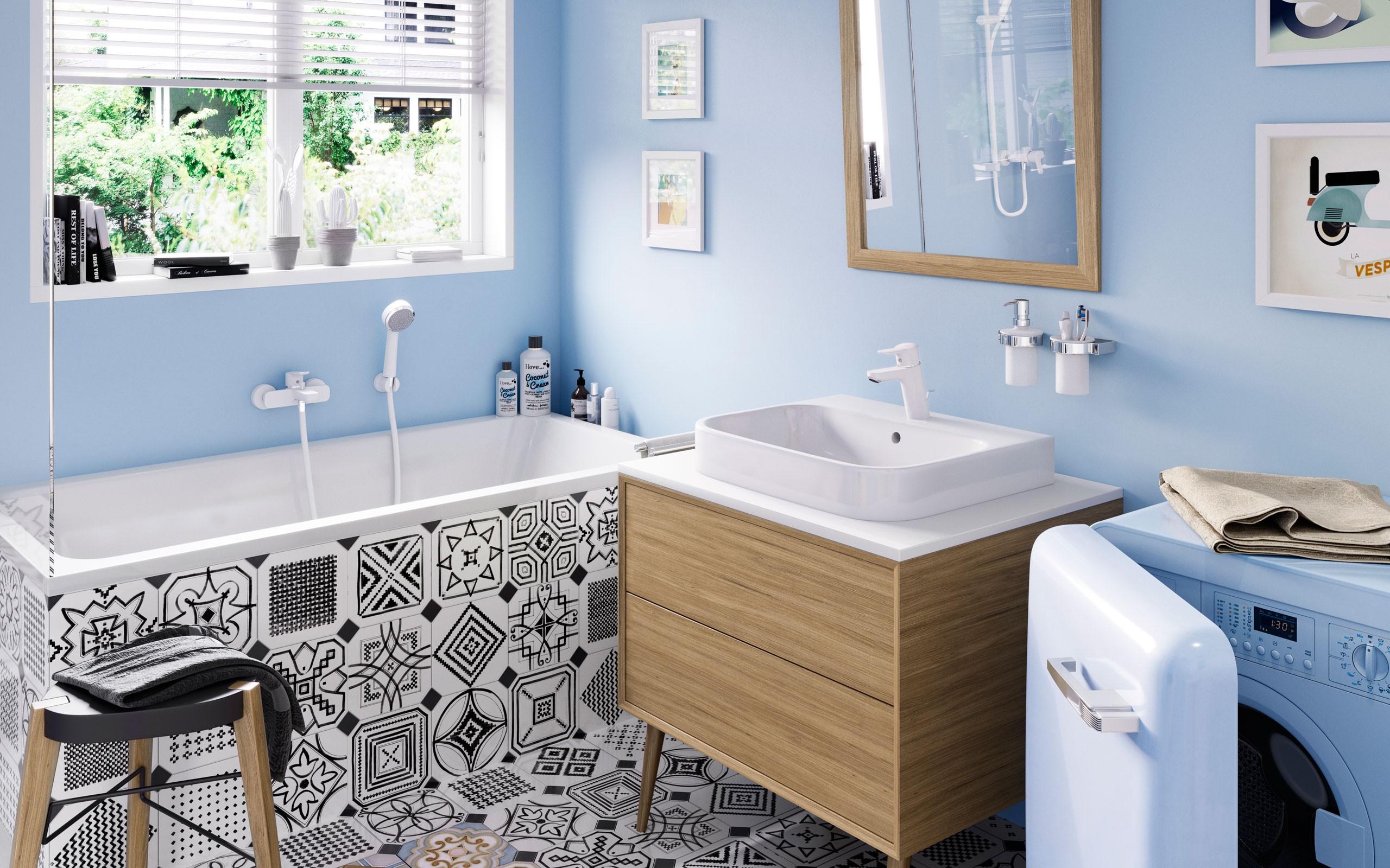 KLUDI PURE&EASY WHITE Armatura łazienkowa