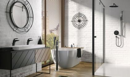 Aranżacja łazienki z użyciem produktów producenta armatury KLUDI