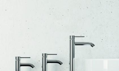 Zdjęcie armatur umywalkowych KLUDI BOZZ o różnej wysokości korpusu